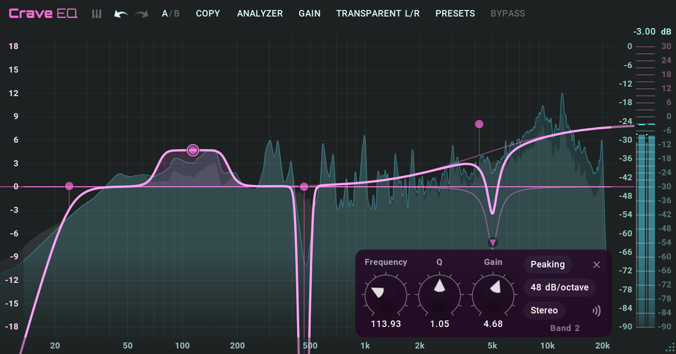 Crave EQ, professional equalizer plugin for mixing and mastering